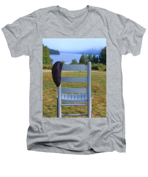 God's Waiting Room Men's V-Neck T-Shirt