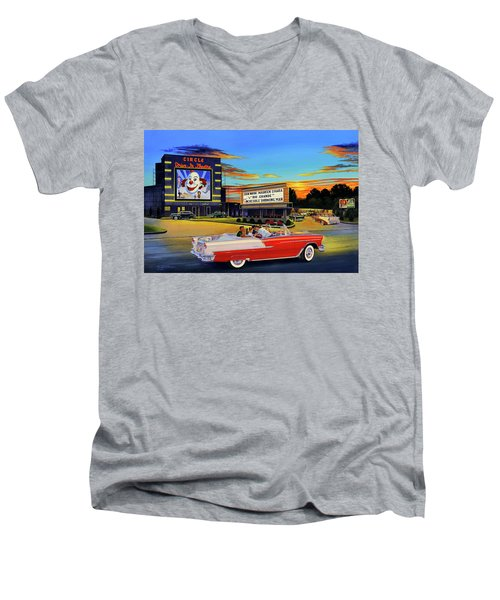 Goin' Steady - The Circle Drive-in Theatre Men's V-Neck T-Shirt