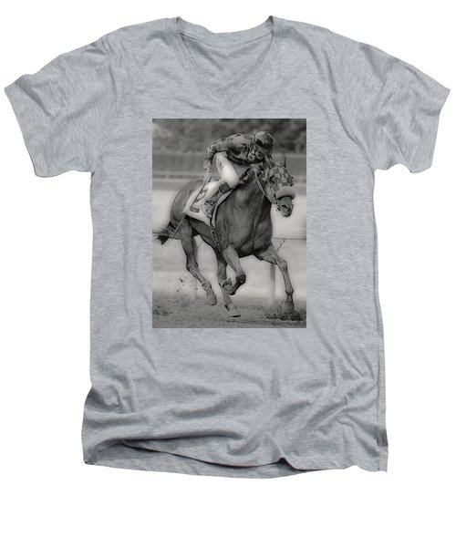 Going For The Win Men's V-Neck T-Shirt by Lori Seaman