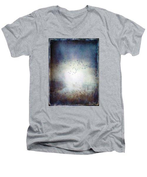 Going Home Men's V-Neck T-Shirt by Ann Tracy