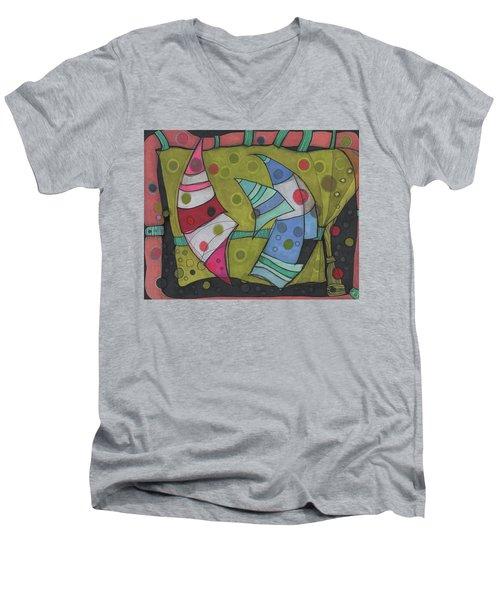 Going In Circles Men's V-Neck T-Shirt
