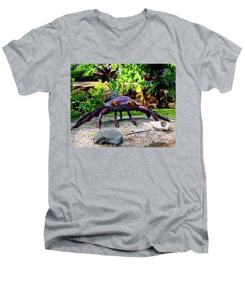 Going Piggyback On A Crab Men's V-Neck T-Shirt