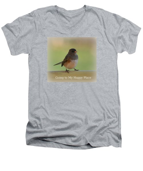 Going To My Happy Place Men's V-Neck T-Shirt