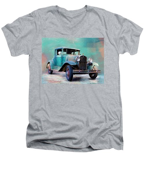 Going Visiting Men's V-Neck T-Shirt by Debra Baldwin