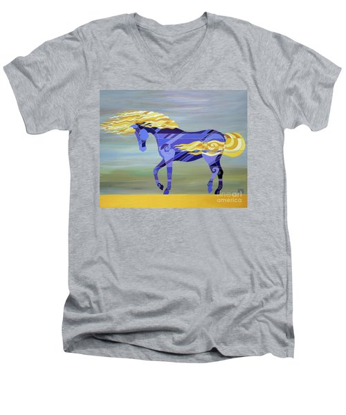 Going With The Flow Men's V-Neck T-Shirt