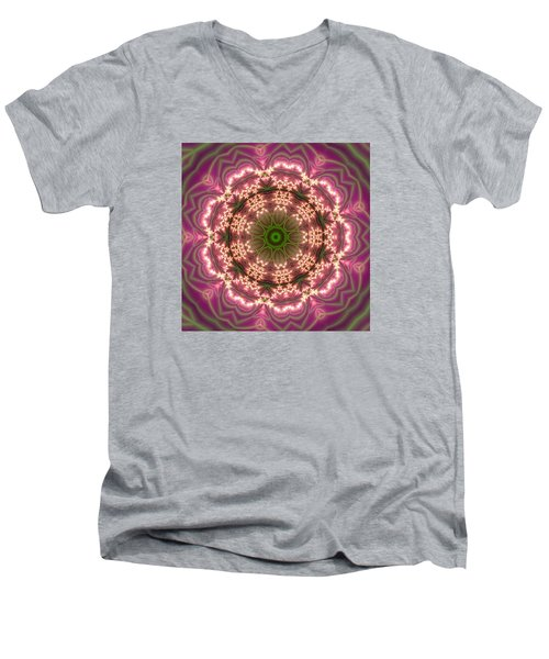 Men's V-Neck T-Shirt featuring the digital art Gold 2 by Robert Thalmeier