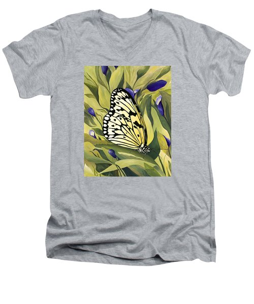 Gold Butterfly In Branson Men's V-Neck T-Shirt