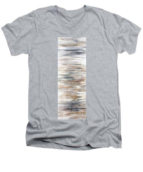 Gold Coast #20 Gold Landscape Original Fine Art Acrylic On Canvas Men's V-Neck T-Shirt