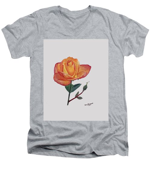 Gold Medal Rose Men's V-Neck T-Shirt