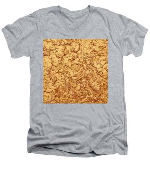 Gold Waves Men's V-Neck T-Shirt