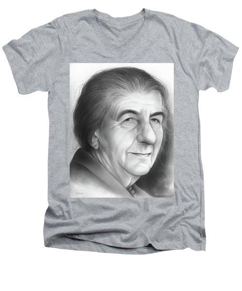Golda Meir Men's V-Neck T-Shirt