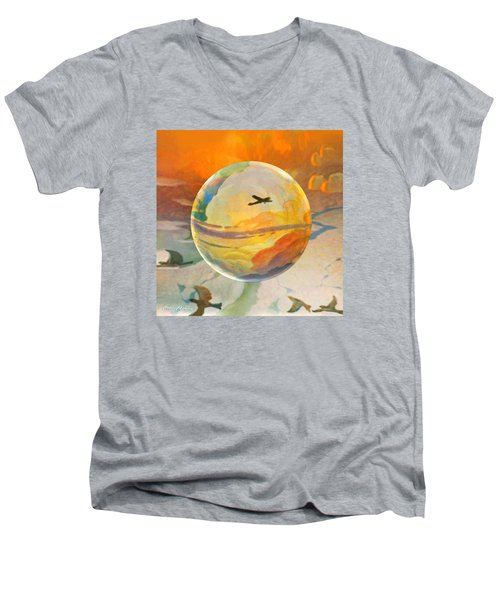 Golden Age Of Flight Men's V-Neck T-Shirt