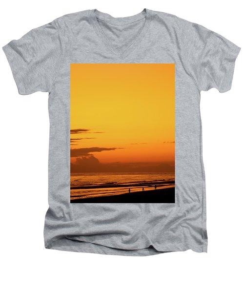 Golden Beach Sunset Men's V-Neck T-Shirt