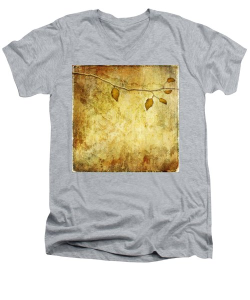 Golden Branch Of Hope  Men's V-Neck T-Shirt