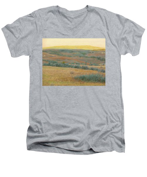 Golden Dakota Horizon Dream Men's V-Neck T-Shirt