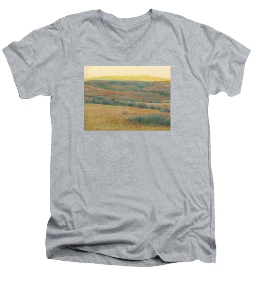 Golden Dakota Horizon Dream Men's V-Neck T-Shirt