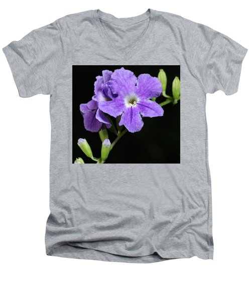 Men's V-Neck T-Shirt featuring the photograph Golden Dewdrop II by Richard Rizzo