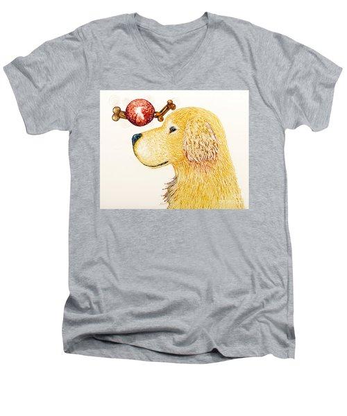 Golden Dreams Men's V-Neck T-Shirt