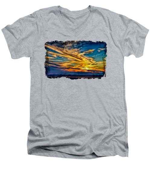 Golden Evening 2 Men's V-Neck T-Shirt