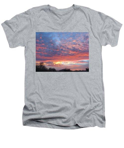 Golden Eye Landing In The Desert Men's V-Neck T-Shirt