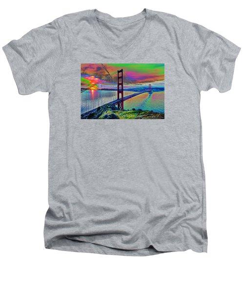 Golden Gate 1 Men's V-Neck T-Shirt