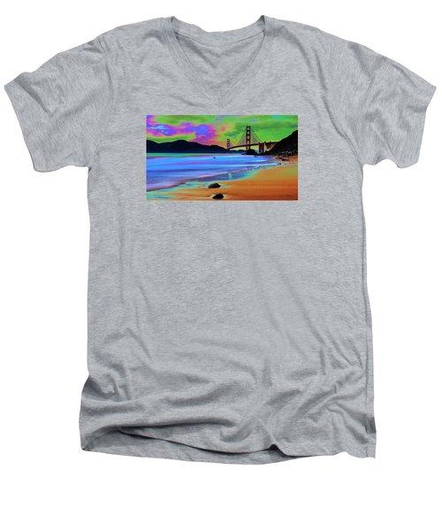 Golden Gate 2 Men's V-Neck T-Shirt