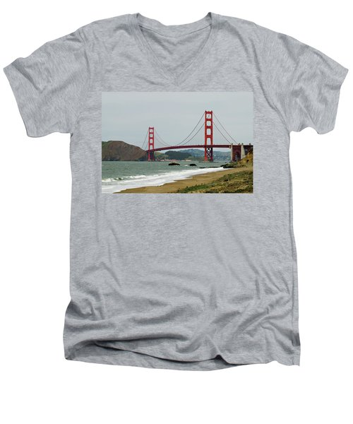 Golden Gate Bridge From Baker Beach Men's V-Neck T-Shirt