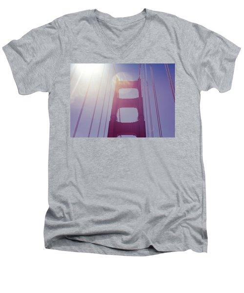 Golden Gate Bridge The Iconic Landmark Of San Francisco Men's V-Neck T-Shirt