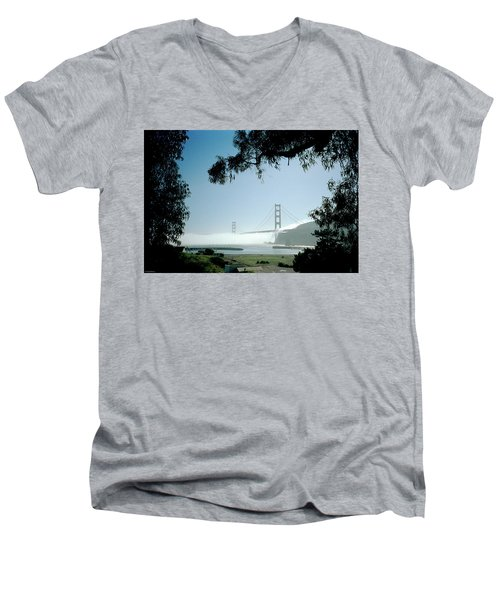 Golden Gate Fog  Men's V-Neck T-Shirt