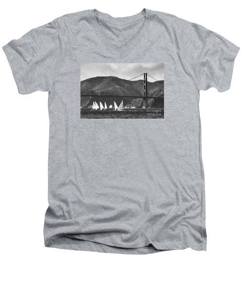 Golden Gate Seascape Men's V-Neck T-Shirt