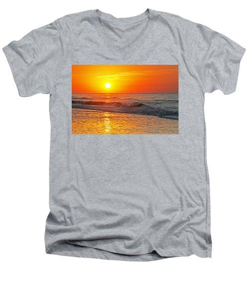 Golden Glory Men's V-Neck T-Shirt by Kay Lovingood