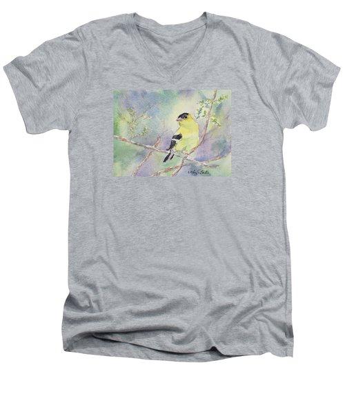 Golden Glow Men's V-Neck T-Shirt