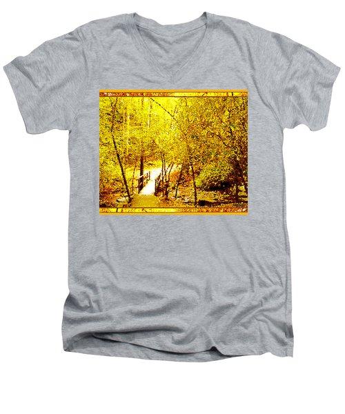 Golden Glow Men's V-Neck T-Shirt by Seth Weaver