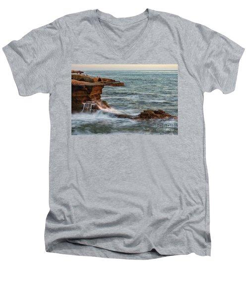 Golden Hour At Sunset Cliffs Men's V-Neck T-Shirt