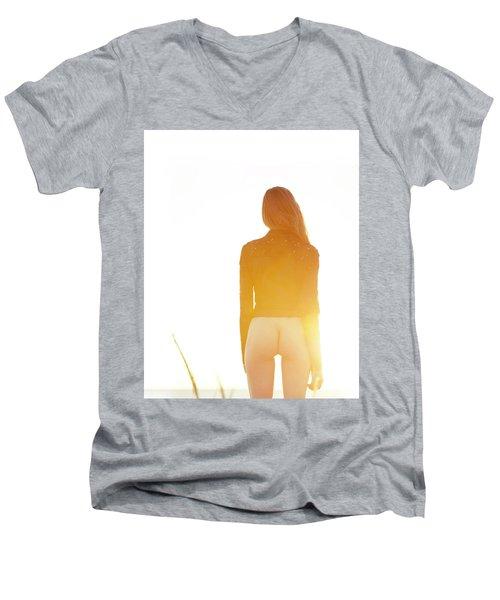 Golden Hour Girl Men's V-Neck T-Shirt