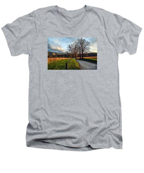 Golden Hour In The Cove Men's V-Neck T-Shirt