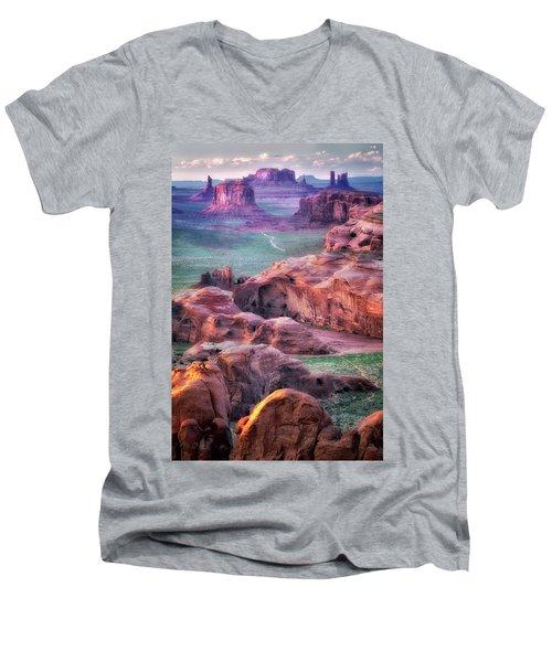 Golden Hour  Men's V-Neck T-Shirt by Nicki Frates