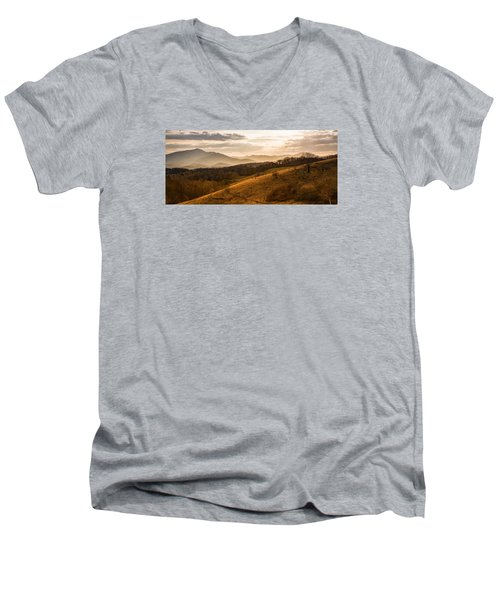 Grandfather Mountain Sunset - Moses Cone Blue Ridge Parkway Men's V-Neck T-Shirt