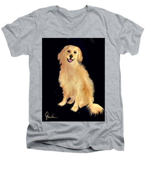 Golden Lab Men's V-Neck T-Shirt