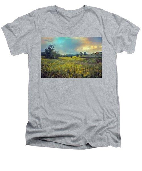 Golden Meadows Men's V-Neck T-Shirt