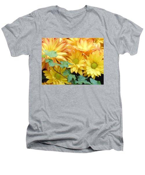 Golden Mums And Ivy Men's V-Neck T-Shirt