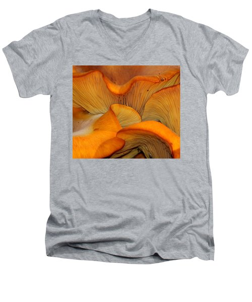 Golden Mushroom Abstract Men's V-Neck T-Shirt