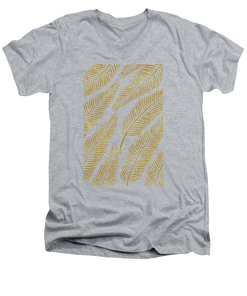 Golden Palm Men's V-Neck T-Shirt by Uma Gokhale