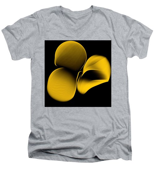Golden Pantomime Men's V-Neck T-Shirt by Danica Radman