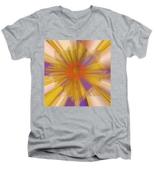 Golden Rays Men's V-Neck T-Shirt