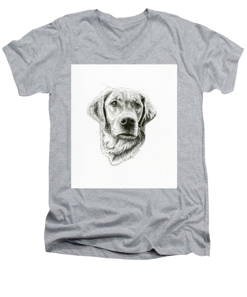 Golden Retriever Bliss Men's V-Neck T-Shirt