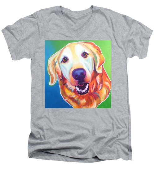 Golden Retriever - Daisy Mae Men's V-Neck T-Shirt