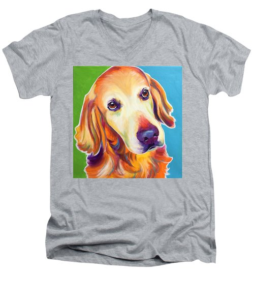 Golden Retriever - Jackson Men's V-Neck T-Shirt