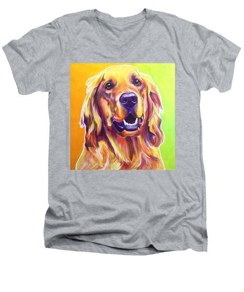 Golden Retriever - Jasper Men's V-Neck T-Shirt