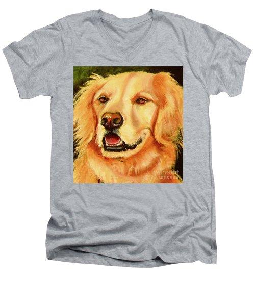 Golden Retriever Sweet As Sugar Men's V-Neck T-Shirt